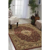 Traditional Nourison Persian Arts Burgundy Rug (7'9 x 10'10) - 7'9 x 10'10