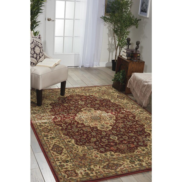 Traditional Nourison Persian Arts Burgundy Rug (7'9 x 10'10) - 7'9 x 10'10