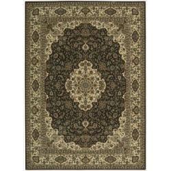 "Nourison Persian Arts Brown Floral Rug - 7'9"" x 10'10"" - Thumbnail 0"