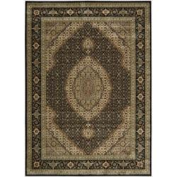 "Nourison Traditional Persian Arts Black Area Rug (7'9"" x 10'10"")"