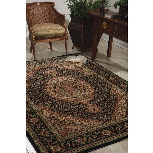 Nourison Traditional Persian Arts Black Area Rug - 7'9 x 10'10