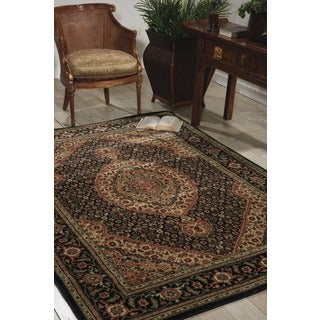"Nourison Traditional Persian Arts Black Area Rug (7'9"" x 10'10"")"