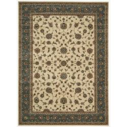 Nourison Persian Arts Ivory Floral Rug - 7'9 x 10'10 - Thumbnail 0