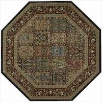 Nourison Persian Arts Multi Rug Octagon - 5'3 x 5'3