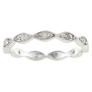 Sterling Silver 1/4ct TDW Diamond Stackable Eternity Band (G-H, I2)