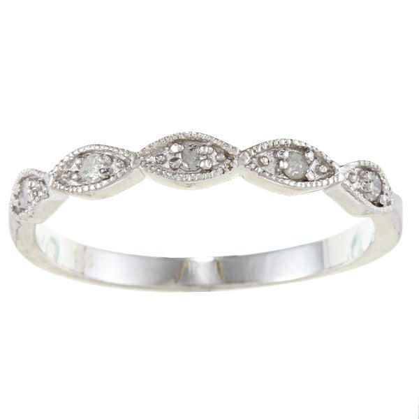 Sterling Silver 1/10ct TDW Diamond Stackable Band (G-H, I2)