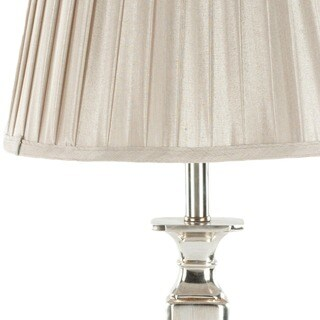Safavieh Lighting 28-inch Chatham Champagne Silk Table Lamp (Set of 2)