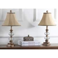 Safavieh Lighting 24-inch Princeton Glass Silk Table Lamp (Set of 2)