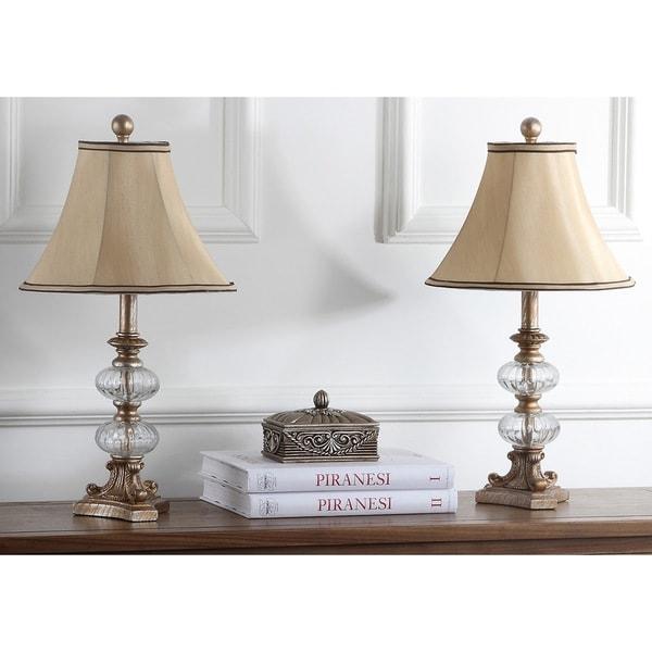 Safavieh Lighting 24-inch Princeton Glass Silk Table Lamp (Set of 2)