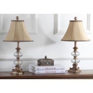 Safavieh Lighting 24-inch Princeton Glass Silk Table Lamps (Set of 2)