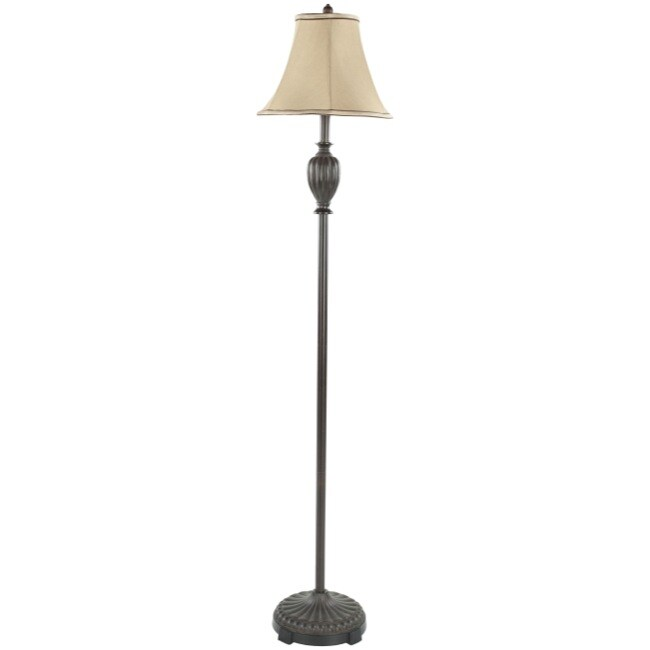 Safavieh Lighting 61-inch Wyndham Black Silk Floor Lamp