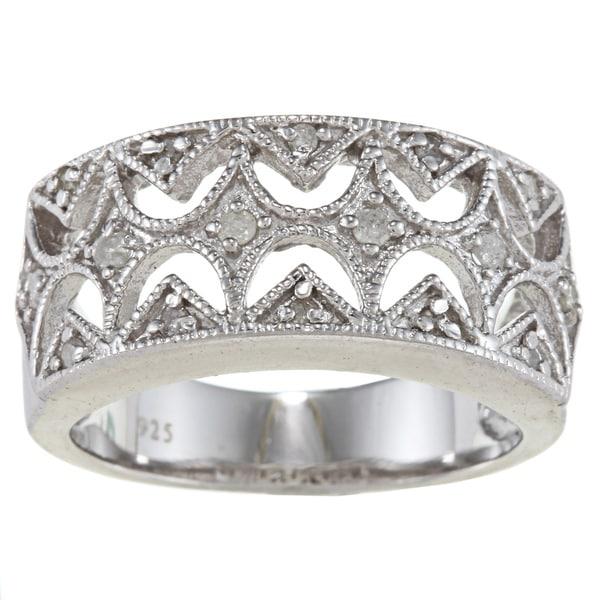 Sterling Silver 1/3ct TDW Diamond Vintage Ring (G-H, I2)