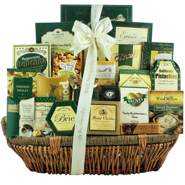 Great Arrivals Heartfelt Condolences Premium Sympathy Gift Basket