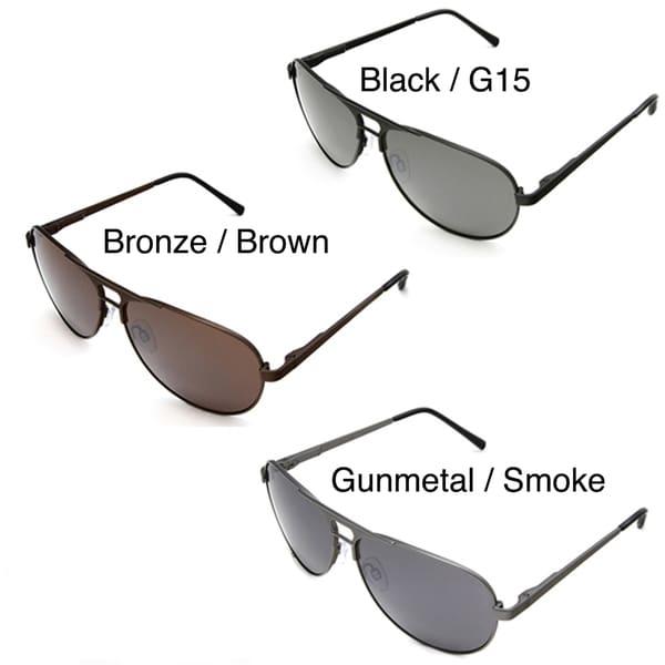 Hot Optix Men's Metal Aviator Sunglasses