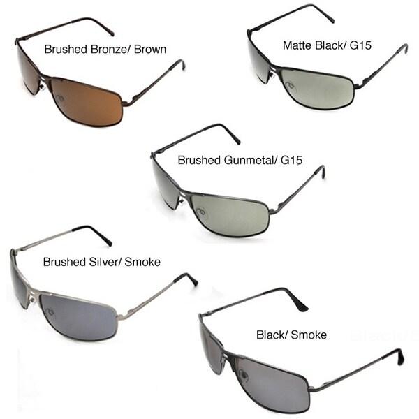 Hot Optix Men's Metal-Framed Polarized Sport Sunglasses