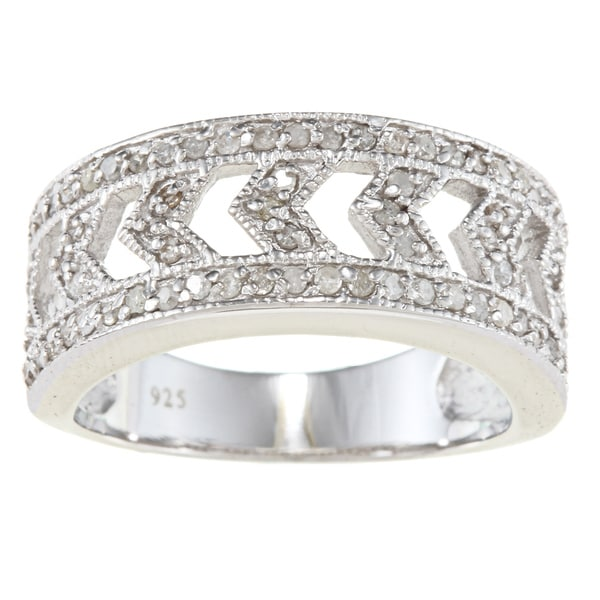 Sterling Silver 1/2ct TDW Diamond Vintage Ring (G-H, I2)