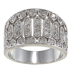Sterling Silver 3/4ct TDW Diamond Vintage Ring