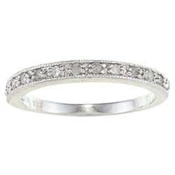 Sterling Silver 1/4ct TDW Diamond Milligrain Band (2 options available)