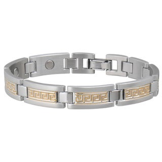 Sabona Greek Key Duet Magnetic Bracelet