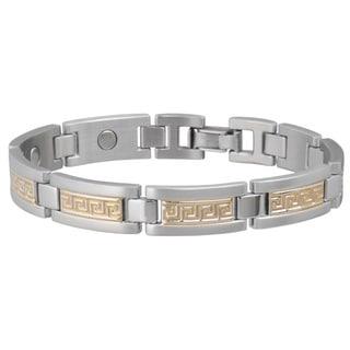 Sabona Greek Key Duet Magnetic Bracelet