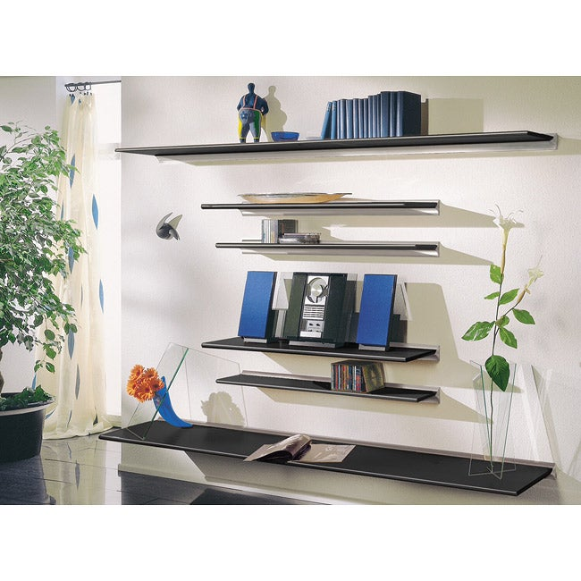 Gallery Black Floating Shelf Wall Unit