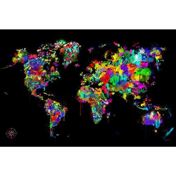 Maxwell Dickson 'World of Colors' Modern Canvas Art Print