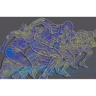 Maxwell Dickson 'Rat Race' Modern Canvas Art Print