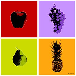 Maxwell Dickson 'Fruits' Canvas Art Prints (Set of 4)
