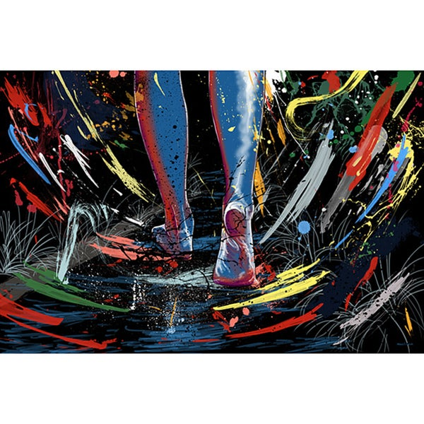 Maxwell Dickson 'The Path' Graffiti Canvas Art Print