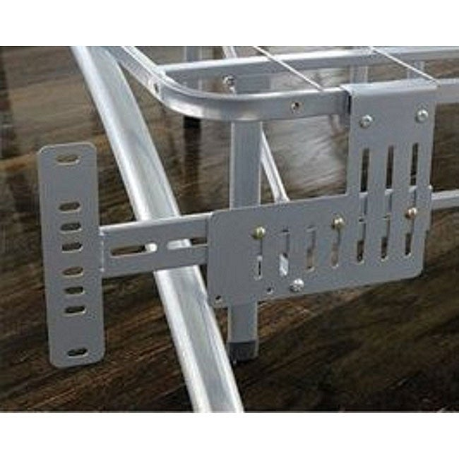 Arch Flex Brushed Silver Headboard/ Footboard Brackets - Thumbnail 0