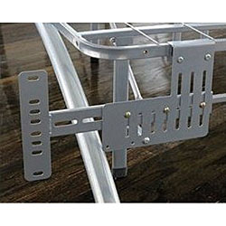 Arch Flex Brushed Silver Headboard/ Footboard Brackets