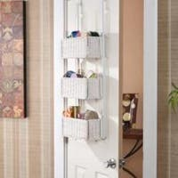 Harper Blvd Burnet White Over-the-Door 3-tier Basket Storage