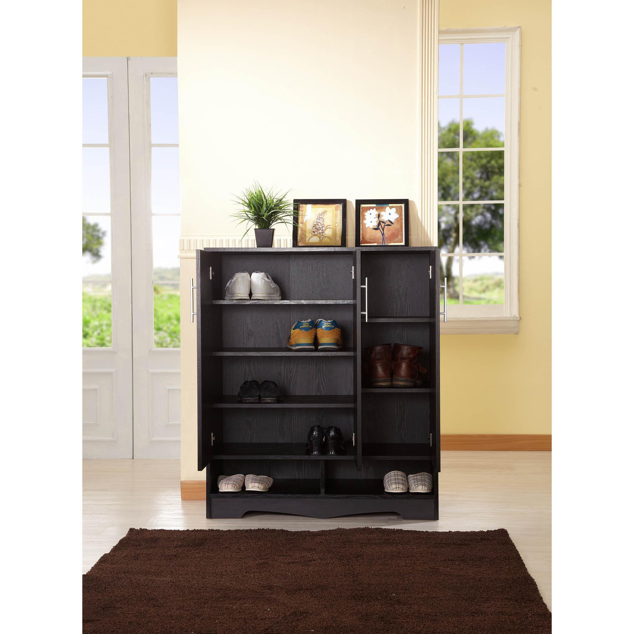 Furniture of America Maxwell Black Seven-shelf Cabinet (B...