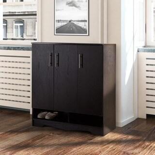 Furniture of America Maxwell Black Seven-shelf Cabinet