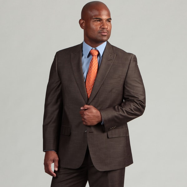 Sean John Men's Brown Two-button Suit