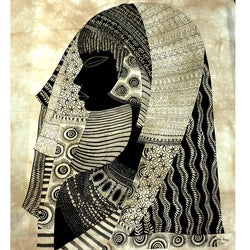 Malindi Girl' Heidi Lange Screen Print  , Handmade in Kenya