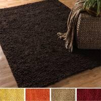 Hand Woven Florence Wool Shag Rug - 5' x 7'6