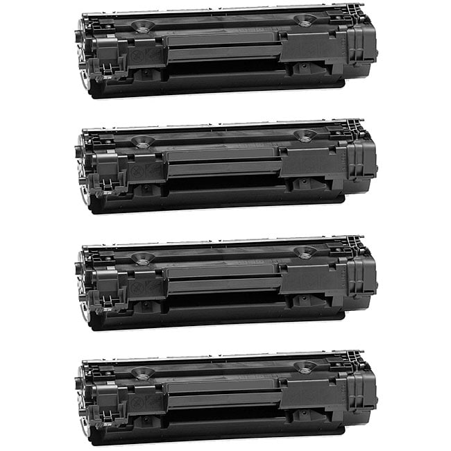 HP CB435A Compatible Black Toner Cartridges (Pack of 4)