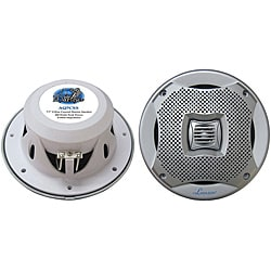 "Lanzar 500W 7.7"" Silver 2-Way Marine Speakers"