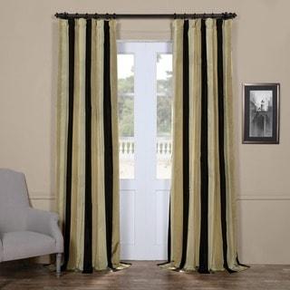 Exclusive Fabrics Signature Stripe Sake Faux Silk Taffeta Curtain Panel