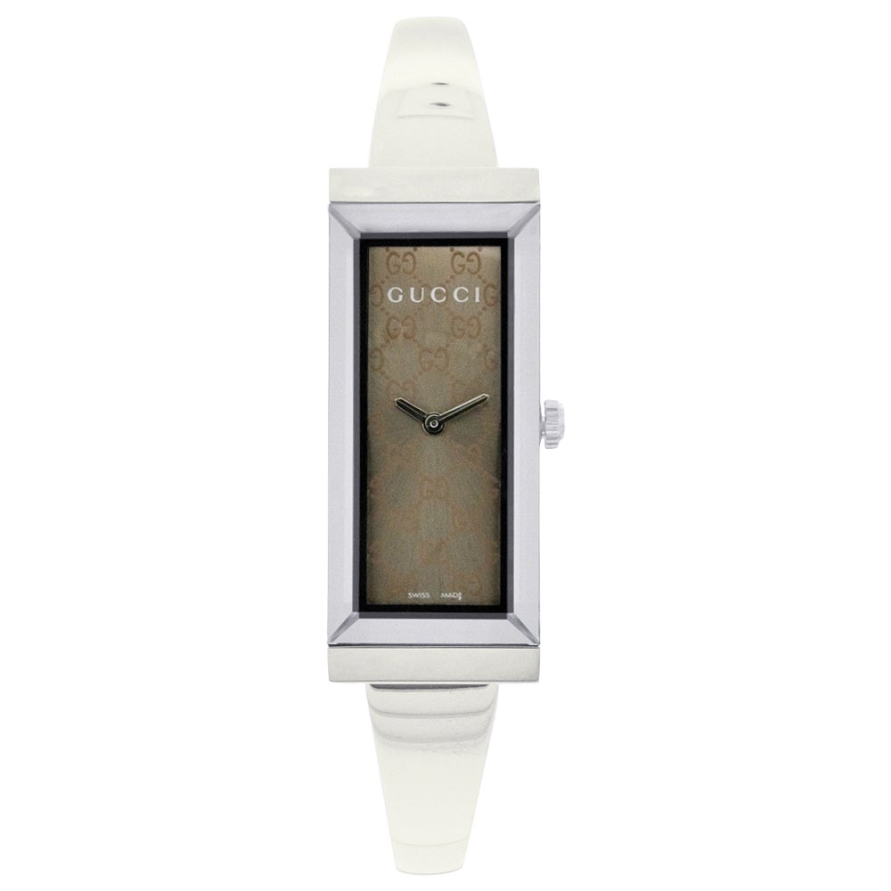 ccc14cf70 Shop Gucci Women's YA127510 'G-frame' Stainless Steel Bangle Watch - Free  Shipping Today - Overstock - 6788358