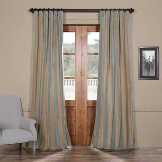 Exclusive Fabrics Signature Stripe Marin Faux Silk Taffeta Curtain Panel