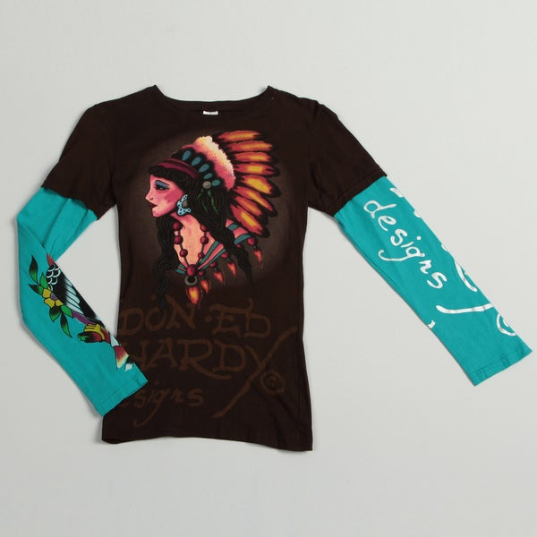 Ed Hardy Girl's 'American Indian' T-shirt