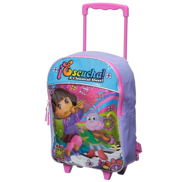 Nickelodeon Dora 16-inch Kids Rolling Backpack