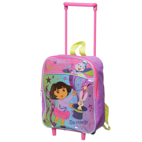 Nickelodeon Dora 12-inch Kids Rolling Backpack