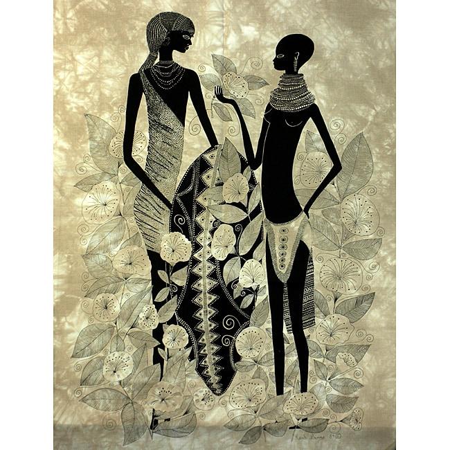 Handmade 'Turkana Couple' Heidi Lange Screen Print (Kenya)