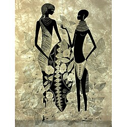 Handmade 'Turkana Couple' Heidi Lange Screen Print (Kenya)