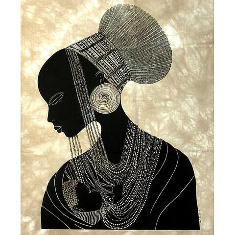 Handmade 'Zulu Mother' Heidi Lange Screen Print (Kenya)