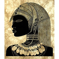 Handmade 'Turkana Warrior' Heidi Lange Screen Print (Kenya)