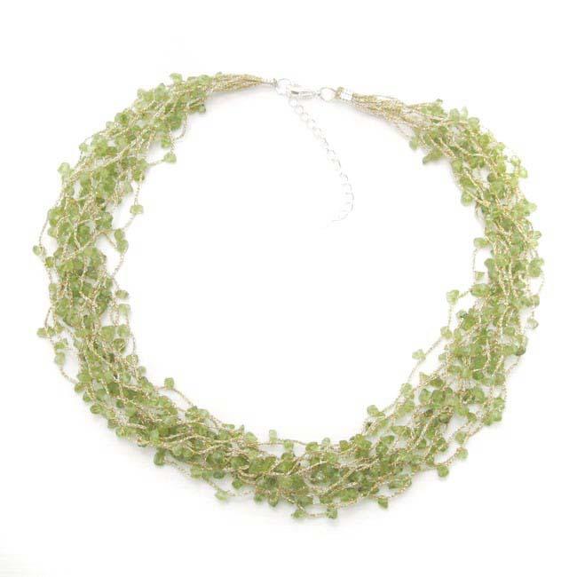 Golden Braided Thread Aventurine Stone Necklace (Thailand)